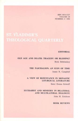 St Vladimir's Theological Quarterly, vol. 28, no. 4 (1984)