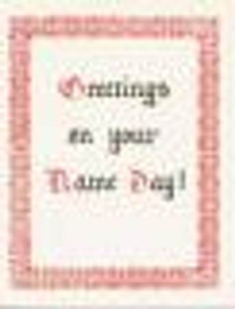 HM-309 Name Day Card