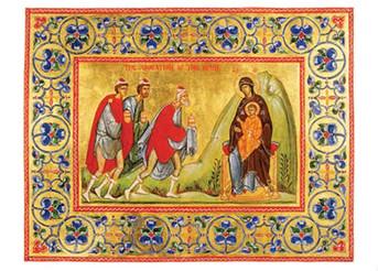 PK-C5 Illuminated Nativity Greeting Cards: Adoration of the Magi