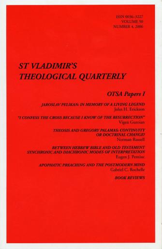 St Vladimir's Theological Quarterly, vol. 50, no. 4 (2006)