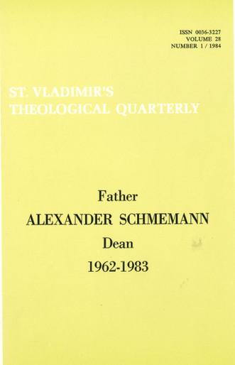 St Vladimir's Theological Quarterly, vol. 28, no. 1 (1984)