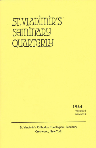 St Vladimir's Theological Quarterly, vol. 8, no. 3 (1964)