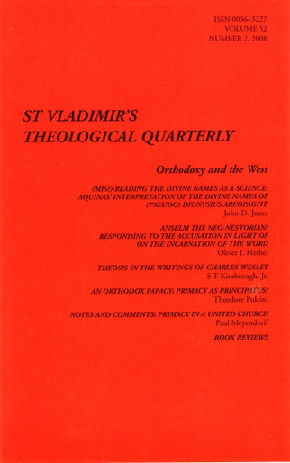 St Vladimir's Theological Quarterly, vol. 52, no. 2 (2008)