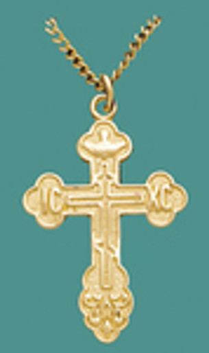 """Cross SS/GP w/Stainless/GP 18"""" Chain, Med. - Engr."""