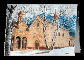 "Christmas Card ""Winter Retreat"" Stephatsminda Monastery"