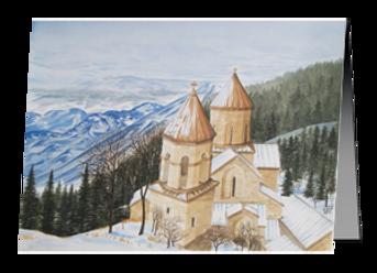 Christmas Cards - Sapara Monastery, Winter in the Mountains