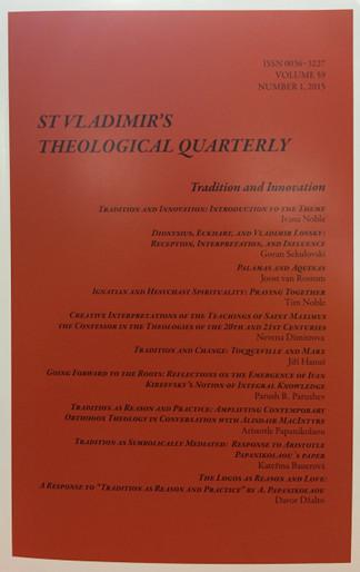 St. Vladimir's Theological Quarterly, Vol. 59, no. 1 (2015)