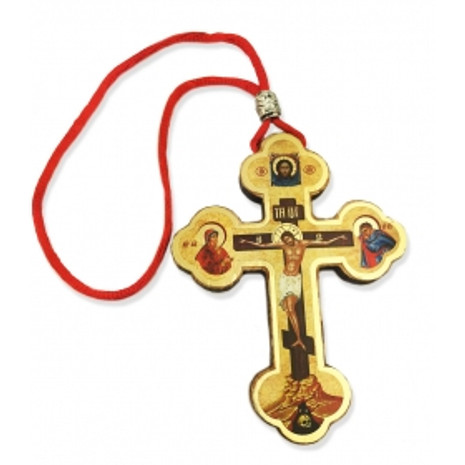 Cross - Wooden on a Red Cord