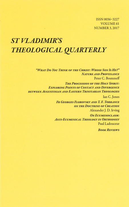 St. Vladimir's Theological Quarterly, Vol. 61, no. 3 (2017)