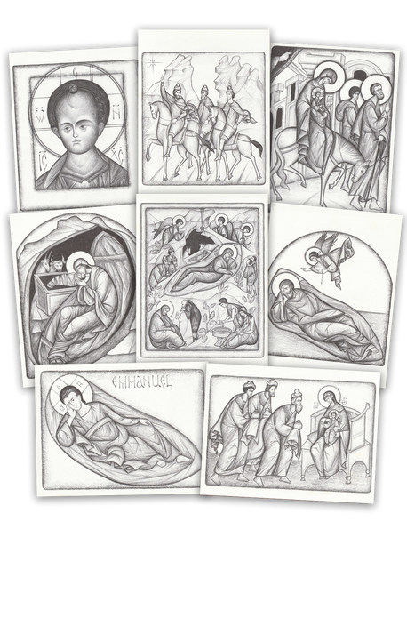 PK-51 Charcoal Nativity Card Assortment