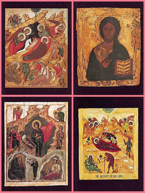 PK-12 Iconographic Christmas Greeting Cards (English Text)
