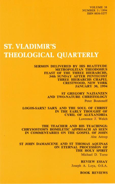 St Vladimir's Theological Quarterly, vol. 38, no. 3 (1994)