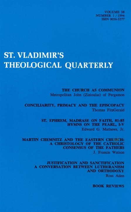 St Vladimir's Theological Quarterly, vol. 38, no. 1 (1994)