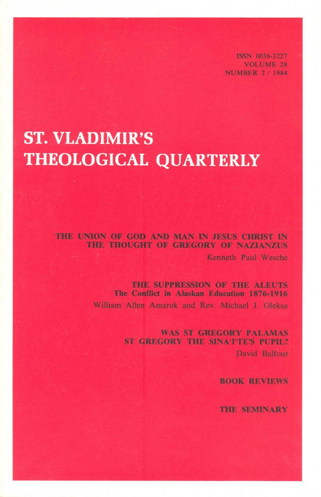 St Vladimir's Theological Quarterly, vol. 28, no. 2 (1984)