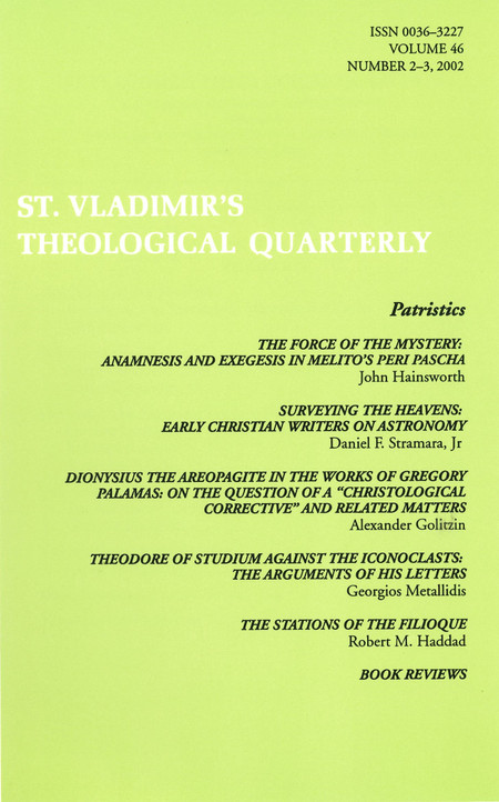 St Vladimir's Theological Quarterly, vol. 46, no. 2-3 (2002)