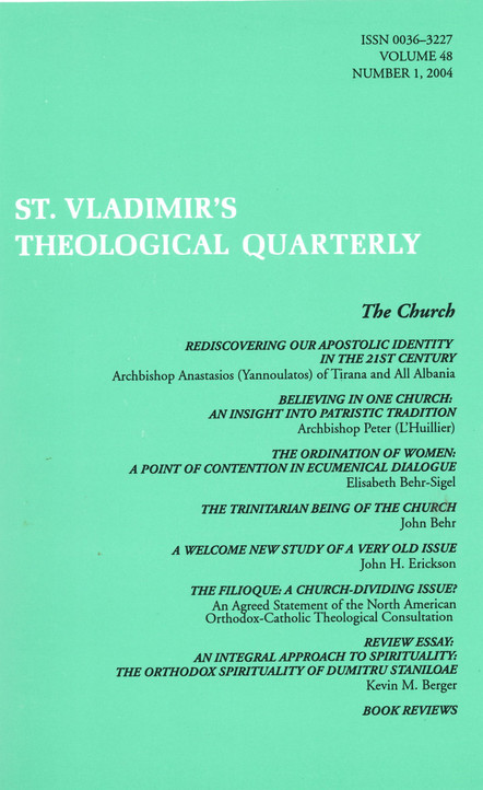 St Vladimir's Theological Quarterly, vol. 48, no. 1 (2004)