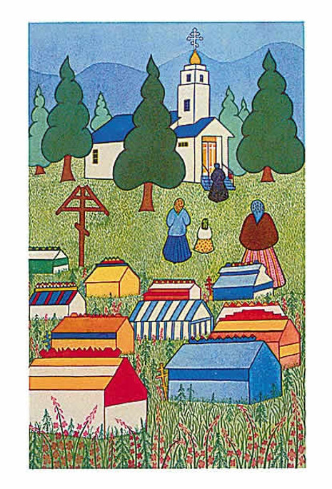 Alaskan Note Cards: Spirit Houses (AK-1007)