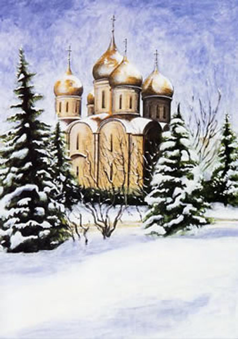 PK-C11G Winter Scenes Greeting Cards: Dormition Cathedral