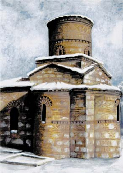 PK-C10G Winter Scenes Greeting Cards: Panagia Kastriotissa