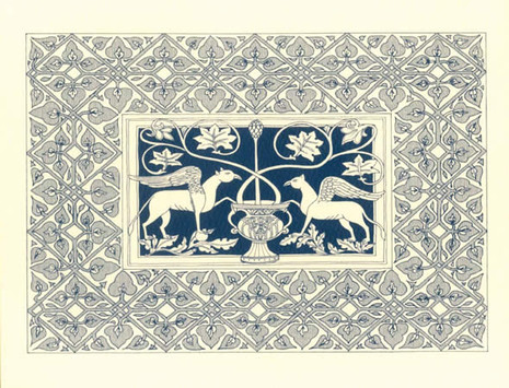 PK-B6 Byzantine Motif Note Cards: Griffins