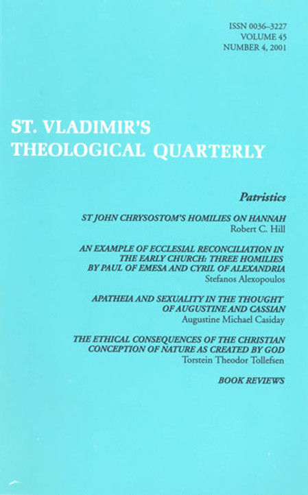St Vladimir's Theological Quarterly, vol. 45, no. 4 (2001)