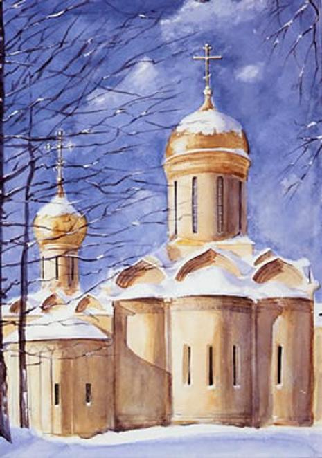 PK-C9G Winter Scenes Greeting Cards: Trinity Cathedral/Nikon Chapel