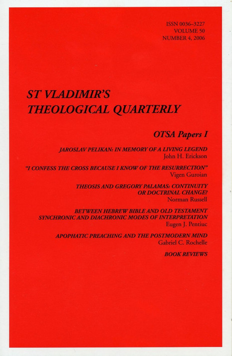 St Vladimir's Theological Quarterly, vol. 50, no. 4 (2006)