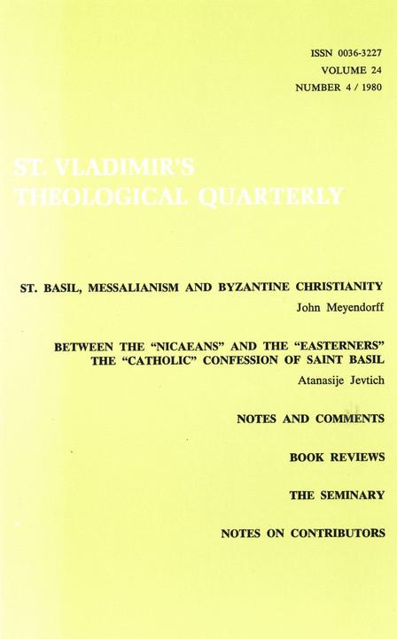 St. Vladimir's Theological Quarterly, vol. 24, no. 4 (1980)