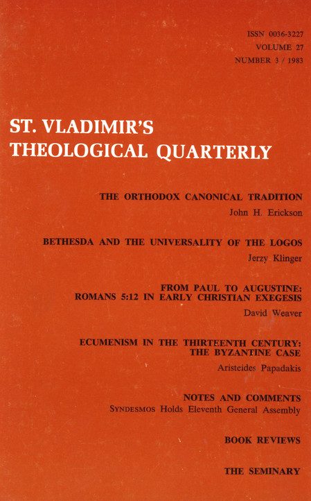St. Vladimir's Theological Quarterly, vol. 27, no. 3 (1983)
