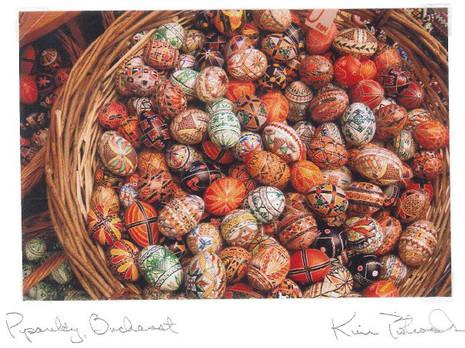 Pysanky, Bucharest. Handmade cards by Kim Piotrowski - Box of 10