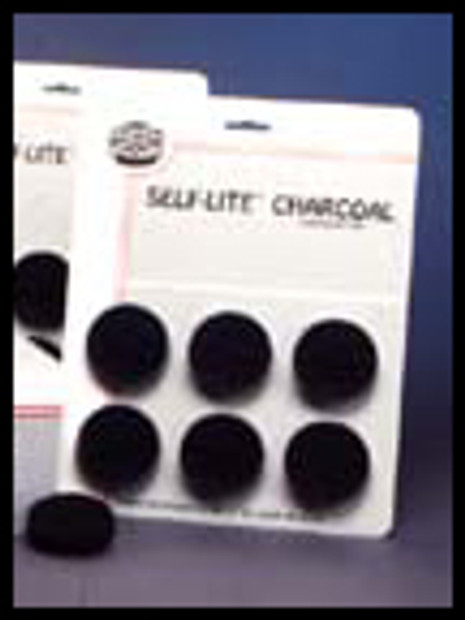 Charcoal - Self-Lite Pack of 6 Briquettes