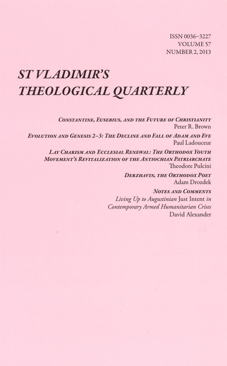 St. Vladimir's Theological Quarterly, Vol. 57, no. 2 (2013)