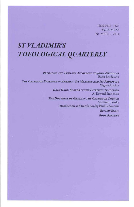St. Vladimir's Theological Quarterly, Vol. 58, no. 1