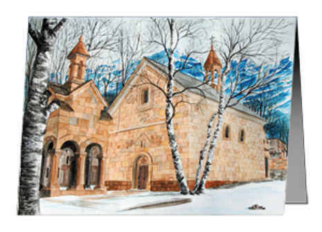 "Christmas Card ""Winter Retreat"" Stephatsminda Monastery"