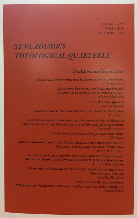 St. Vladimir's Theological Quarterly, Vol. 59, no. 1 (2015)