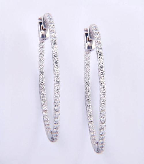 1.80ct tw Diamond Hoop In-n-Out Earrings - Large