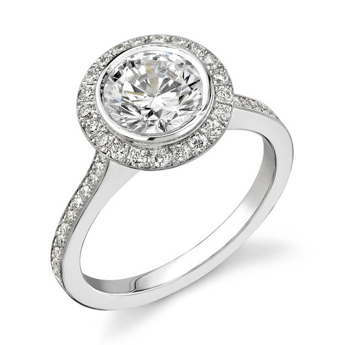 Halo Bezel Round Brilliant Diamond Ring - CDS0001