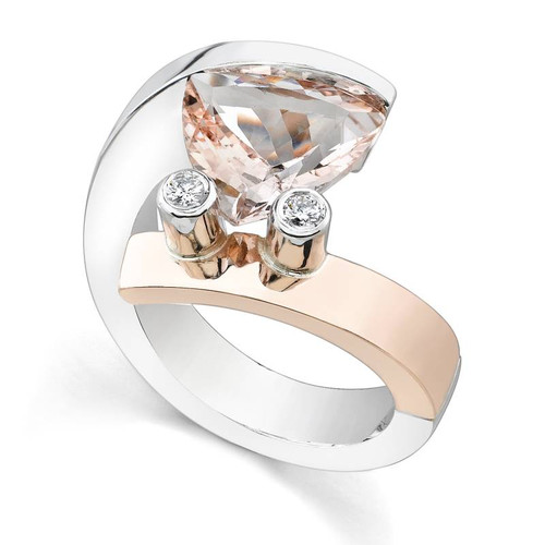 Tension Set Trillion Cut Colored Stone Ring - CDS0026