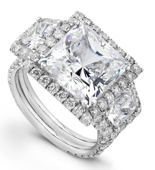 Diane's Tiara Ladies Princess Cut Diamond Ring - CDS0046
