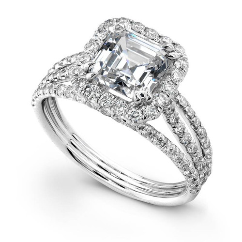 Diane's Tiara Ladies Asscher Cut Diamond Ring - CDS0047