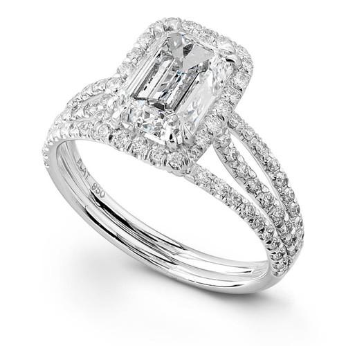 Diane's Tiara Ladies Emerald Cut Diamond Ring - CDS0048