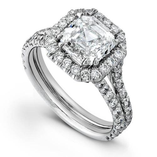 Diane's Tiara Ladies Asscher Cut Diamond Ring - CDS0050