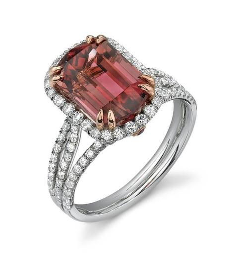 Diane's Tiara Ladies Emerald Cut Colored Stone Ring - CDS0065