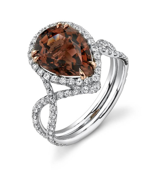Diane's Tiara Ladies Pear Shape Colored Stone Ring - CDS0066