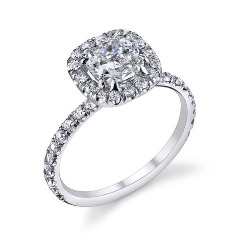 Diane's Tiara Ladies Cushion Cut Diamond Ring - CDS0081