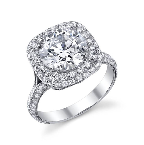 Royal Cup Round Brilliant Diamond Ring - CDS0115