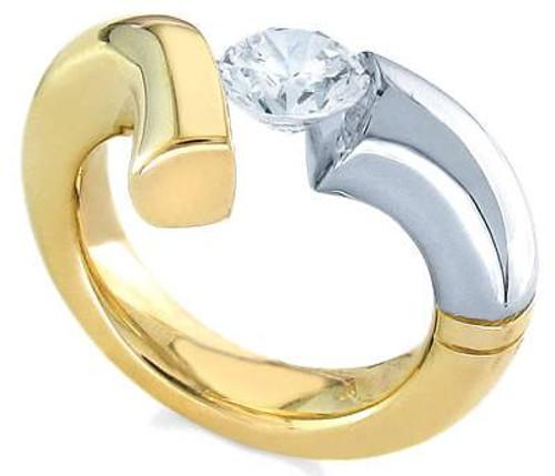 Tension Set Round Brilliant Diamond Ring - CDS0116