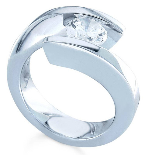Tension Set Round Brilliant Diamond Ring - CDS0117