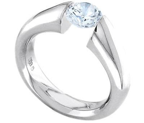 Tension Set Round Brilliant Diamond Ring - CDS0118