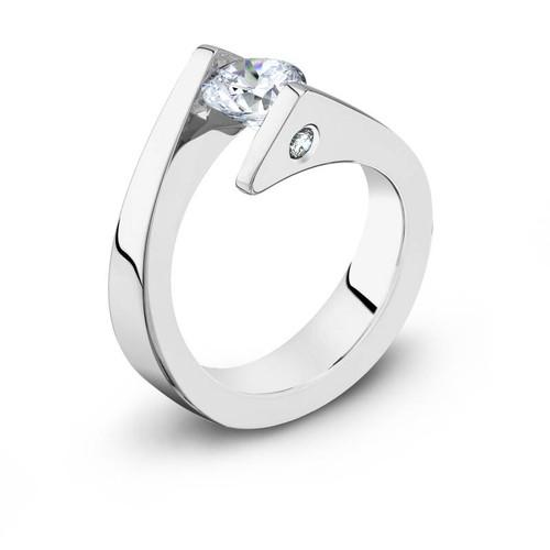 Tension Set Round Brilliant Diamond Ring - CDS0122